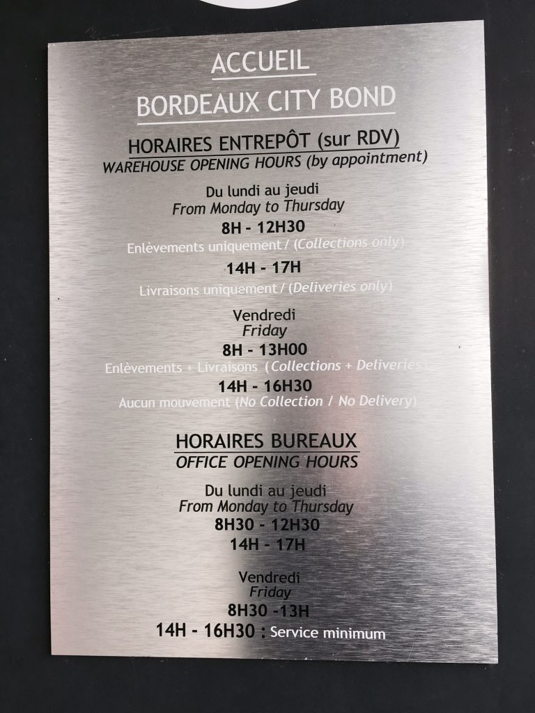 Horaires Bordeaux City Bond